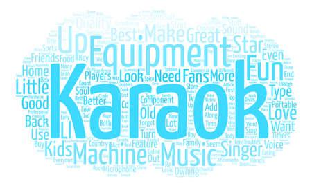 Karaoke Equipment text background word cloud concept