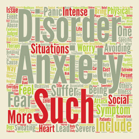 ridicule: How Is Your Anxiety Today text background wordcloud concept