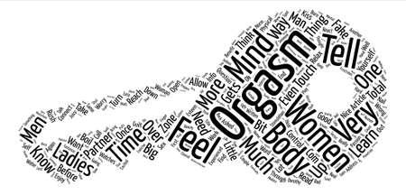 どのようにオーガズム テキスト背景単語雲の概念に到達します。