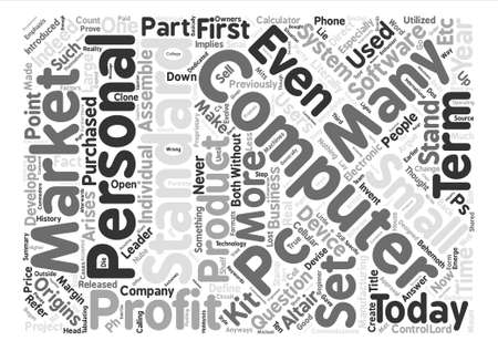 arises: Just What Is A PC Anyways text background wordcloud concept
