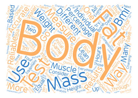 How To Test Body Fat text background word cloud concept Illustration