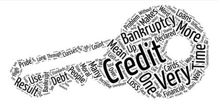 Loans And Credit Cards And Bankruptcy text background wordcloud concept