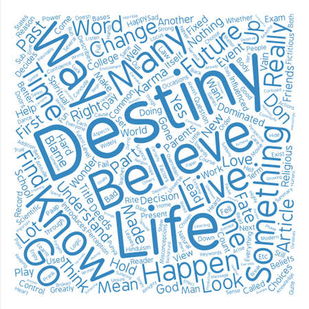 I know my destiny can I change it Word Cloud Concept Text Background
