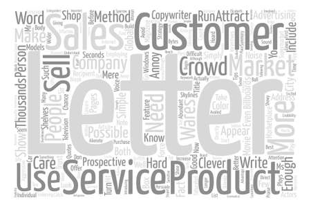 How To Write A Sales Letter That Sells text background word cloud concept