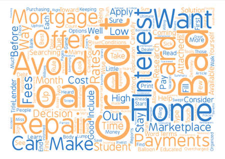 How to Avoid Bad Credit and Repair text background word cloud concept