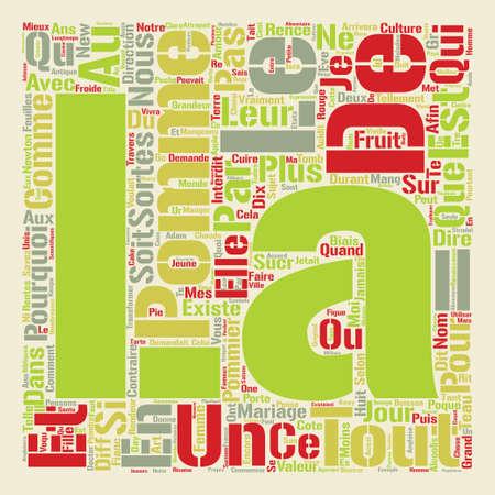 la pomme est magique text background word cloud concept