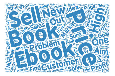compiled: How DO You Price Your eBook text background word cloud concept Illustration