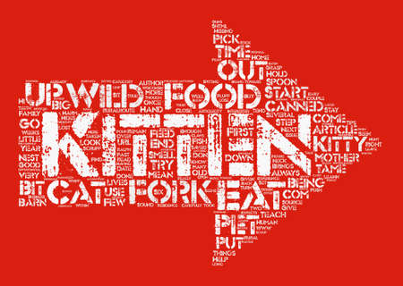 How to Tame Wild Kittens text background word cloud concept Illustration