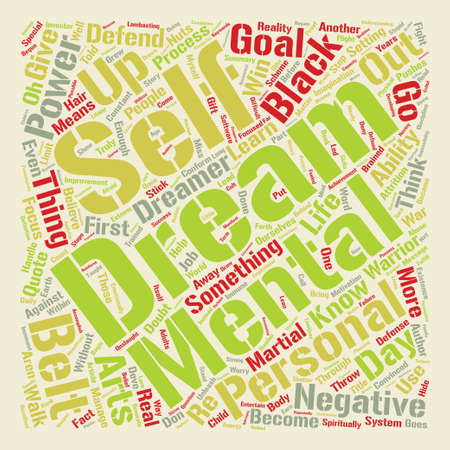 Learn How To Defend Your Dreams text background word cloud concept