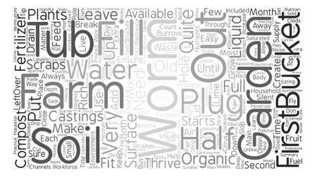 How To Grow Your Own Organic Worms Your Silent Workforce text background word cloud concept Illustration