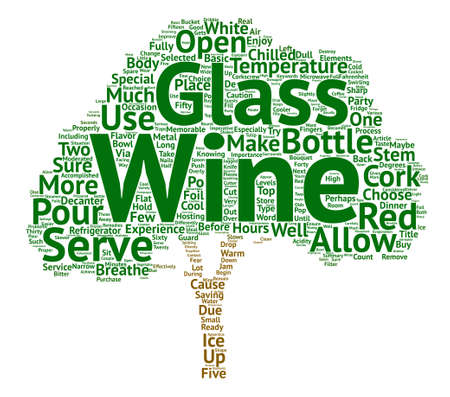 How To Serve Wine text background word cloud concept