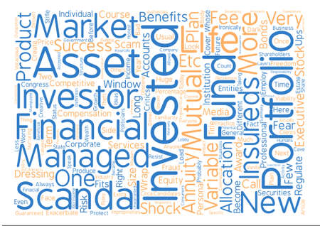 congress: Investment Scandals Scams What s Next Word Cloud Concept Text Background