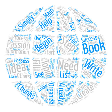 How to Write a Book and Mine the Gold Called Your Knowledge text background word cloud concept