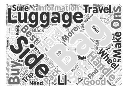 duffel: How to Choose and Buy the Right Luggage text background word cloud concept Illustration