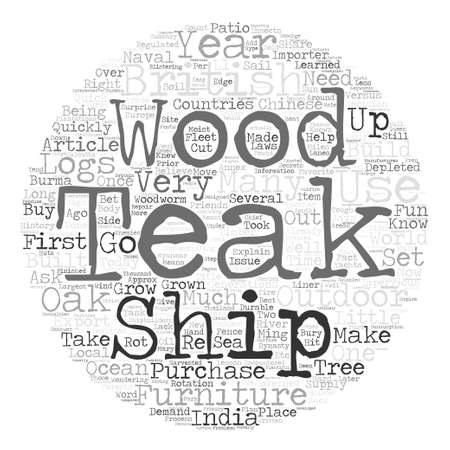articles of furniture: Is Teak Wood Outdoor Furniture Right For Me Word Cloud Concept Text Background