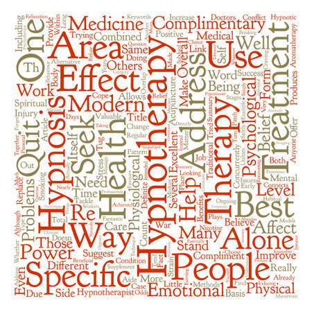 Hypnotherapy The Best Complimentary Therapy Word Cloud Concept Text Background