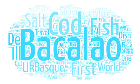 conquered: How Salt Cod conquered the World text background word cloud concept