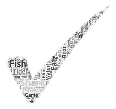 larger: How To Catch Sharks Word Cloud Concept Text Background