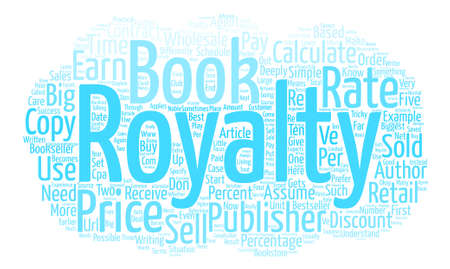 article writing: How Author Royalties Are Calculated text background word cloud concept