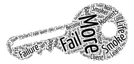 come back: Learn To Fail To fail Word Cloud Concept Text Background Illustration