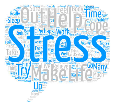 How Can We Cope With Stress text background word cloud concept