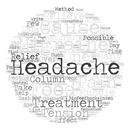 potentially: Migraine Headaches Is Relief Without Drugs Possible Word Cloud Concept Text Background Illustration