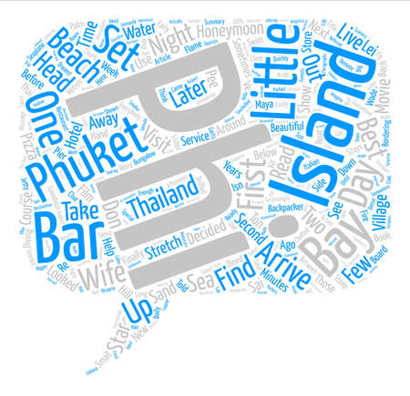 How To Find Honeymoon Phuket Island Thailand Word Cloud Concept Text Background Иллюстрация
