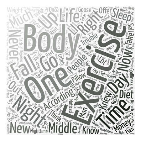 It s My Body I ll Exercise It If I Have To Word Cloud Concept Text Background Illustration