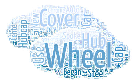 Hubcaps The History of the Great Cover Up text background wordcloud concept Illustration
