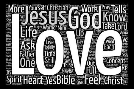 unconditional: Jesus Loves Me Word Cloud Concept Text Background Illustration