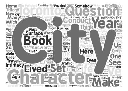 told: How A City Can Be A Character In Your Novel text background word cloud concept Illustration