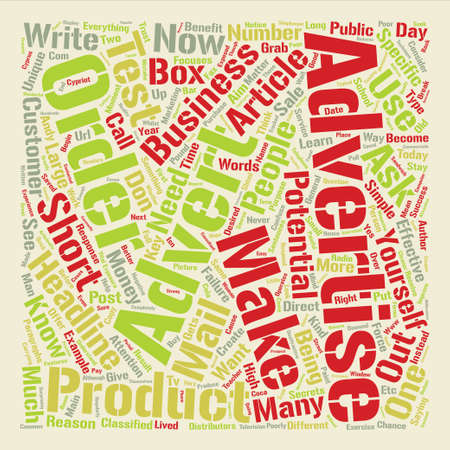 How to Write Adverts that Forces People to Respond text background word cloud concept