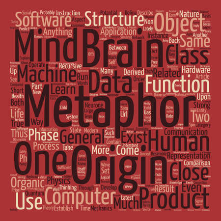 Metaphors of the Mind Part I text background word cloud concept