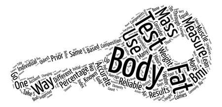 How To Test Body Fat Word Cloud Concept Text Background