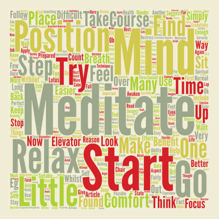 Learn How To Meditate text background word cloud concept. Stock Photo