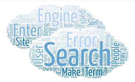How to improve your site search text background word cloud concept