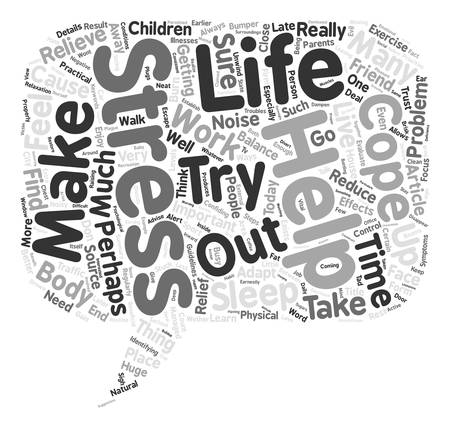 How Can We Cope With Stress Word Cloud Concept Text Background
