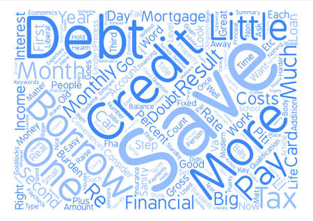 How Much Should You Borrow Word Cloud Concept Text Background Vectores