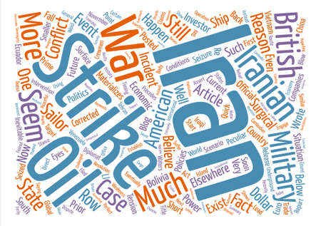 imminent: Is War With Iran Imminent text background word cloud concept