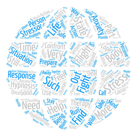 How Hypnotherapy Helps With Stress And Anxiety Word Cloud Concept Text Background