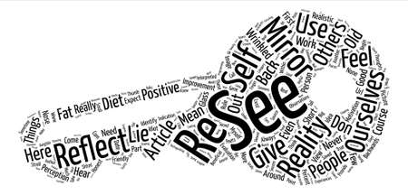Mirrors text background word cloud concept
