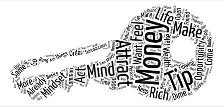 thread count: Mindset To Attract Money text background word cloud concept