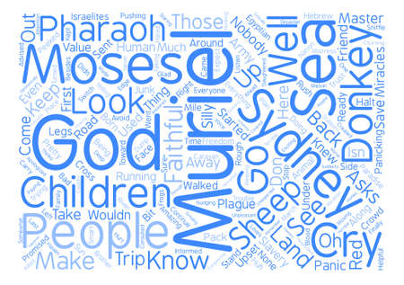 faithfulness: Nobody Asks the Donkey text background wordcloud concept