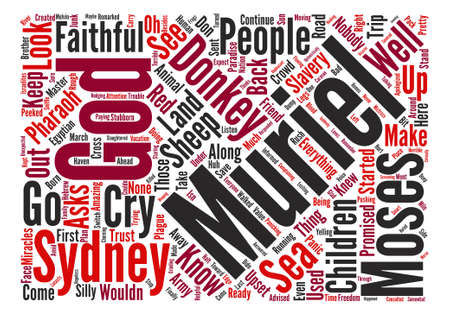 faithfulness: Nobody Asks the Donkey Word Cloud Concept Text Background