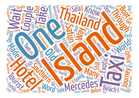 Night in Satun Adventures in Southern Thailand Word Cloud Concept Text Background