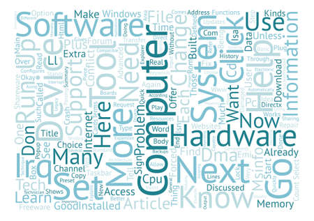 freeware: MSINFO text background word cloud concept