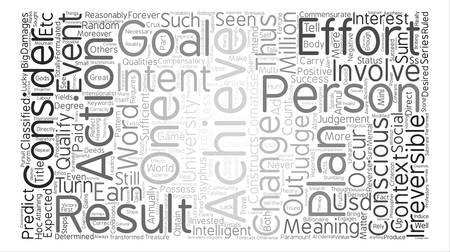 compensatory: On Achievement Word Cloud Concept Text Background Illustration