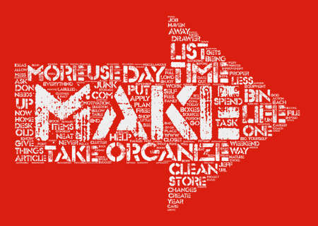 Organized For Life text background word cloud concept