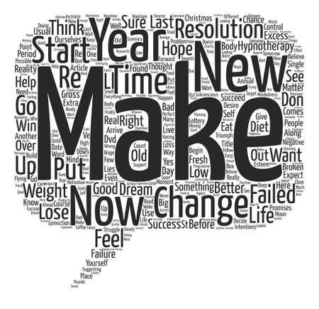 New Year New Diet New You text background wordcloud concept