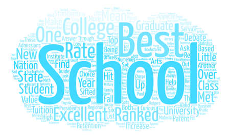 One Look At Excellent Colleges text background wordcloud concept